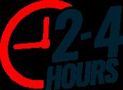 2-4hrs